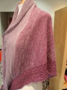 Bam Huey handspun shawl