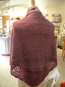 back view Bam Huey handspun shawl