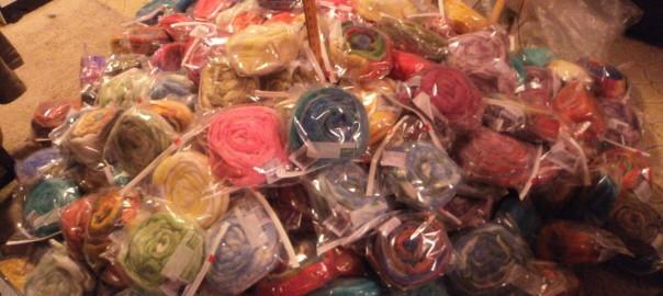278 bags of hand painted Bam Huey Fiber