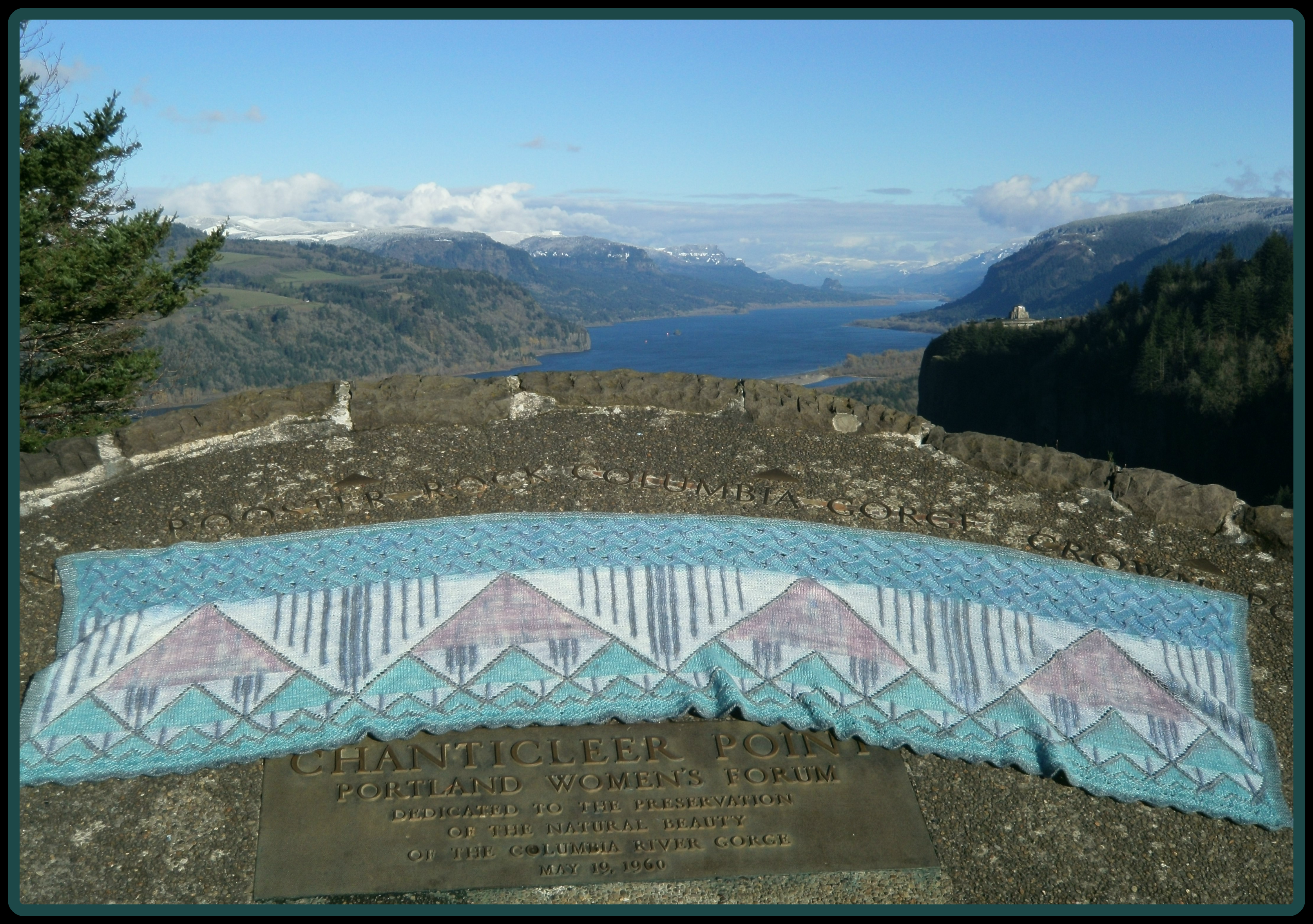 Going To The Gorge Shawl