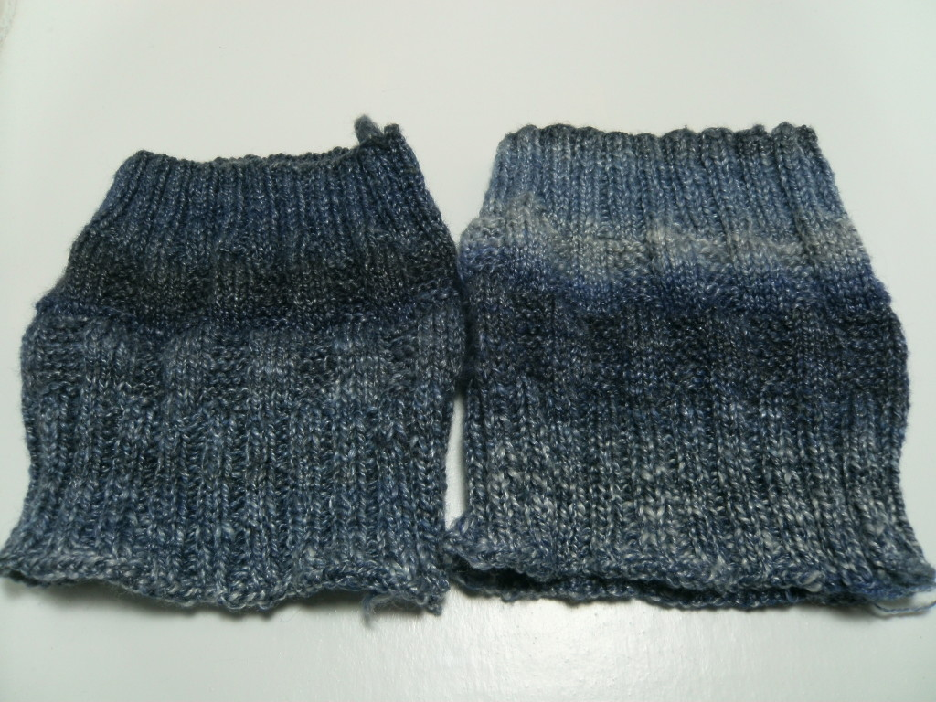 Boot Toppers, top half 2 ply gradient, bottom half 2 ply light against dark.