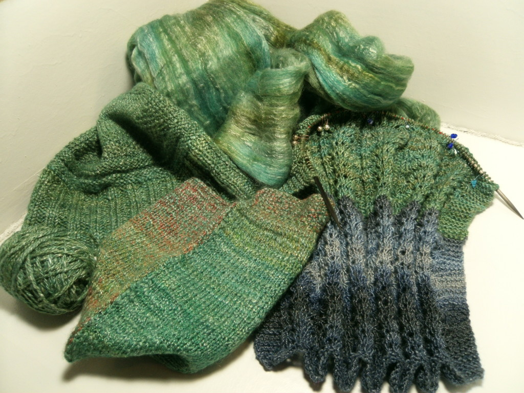 Knit samples of Chloroplast Blast!