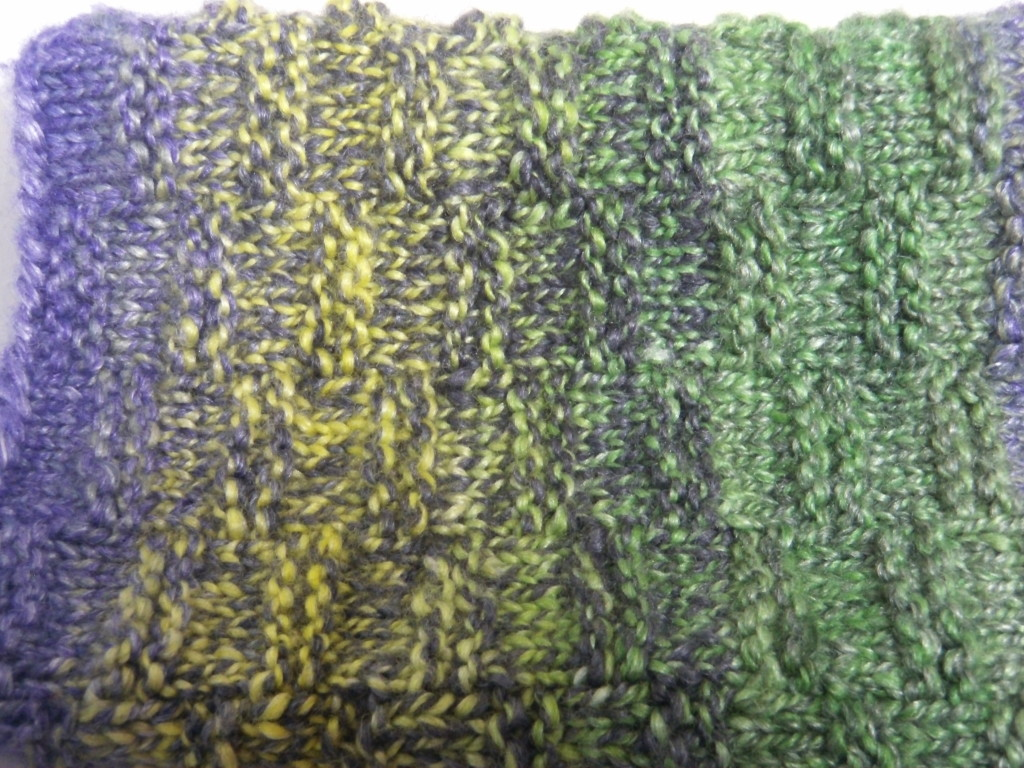 The Green Comet in 2 ply. Dark plied with light.