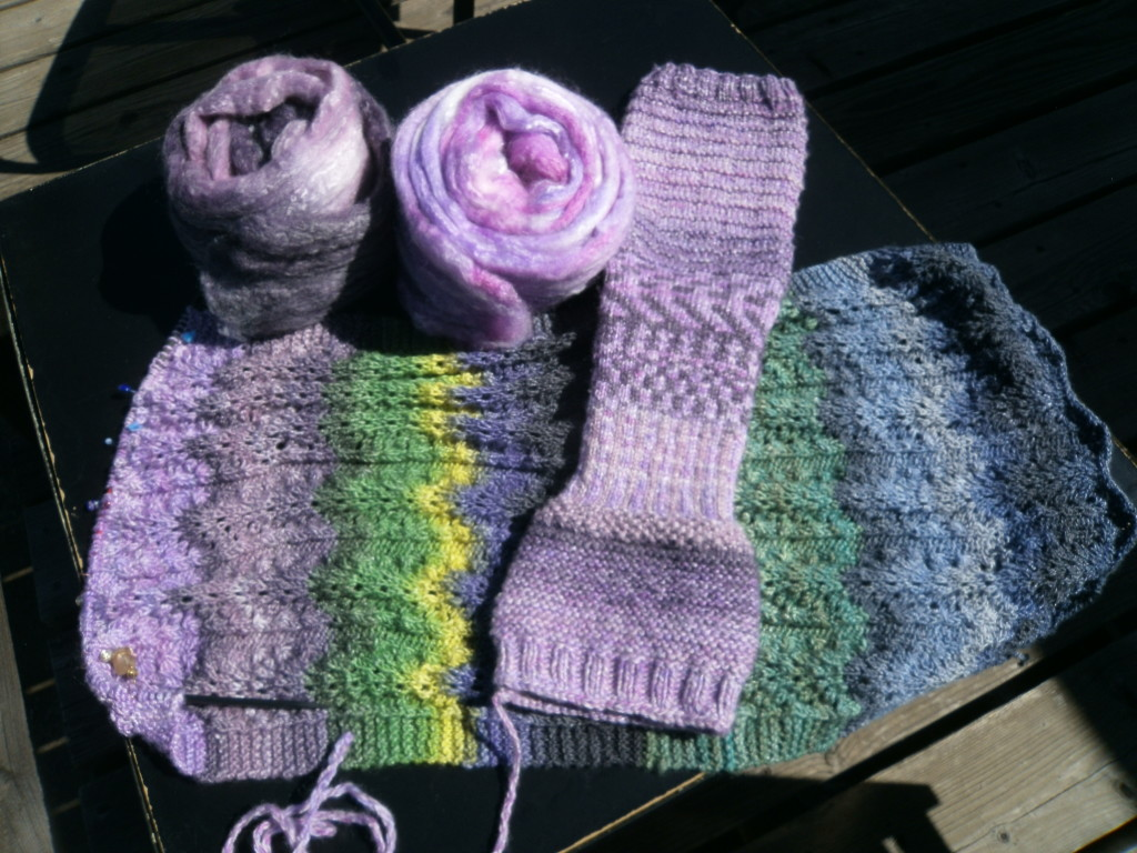 April Purple memories added on to the scarf.